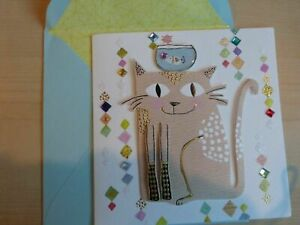 Gorgeous PAPYRUS Greeting Card -All Occasions - super cute 3D Cat