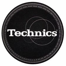 Pair Felts Anti-static Wipes Record Player Slipmats Technics Strobe Black Silver