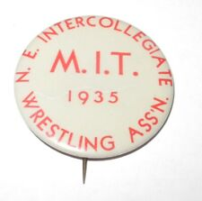 1935 Wrestling MIT Massachusetts Institutue Technology Intercollegiate Pin Token