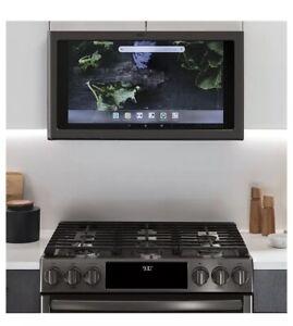 "SAME DAY SHIP Profile Kitchen Hub 30"" 600 CFM Smart Range Light Black Stainless"