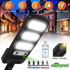 Waterproof Solar Street Wall Light Motion Sensor LED Walkway Lamp Remote Control