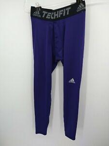 Adidas Men's Training Tights Medium Purple Techfit AY9014 NEW