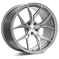 "19"" ROHANA RFX5 BRUSHED TITANIUM CONCAVE WHEELS FOR G35 G37 SEDAN"