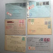 66 Belege Deutsche Post Ziffern - sehr viel top Material - Destination national