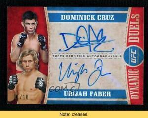 2015 UFC Knockout Dynamic Duels 1/10 Dominick Cruz Urijah Faber Rookie Auto READ