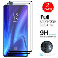 For Xiaomi Mi 9T Caseswill FULL COVER Tempered Glass Screen Protector [2-Pack]