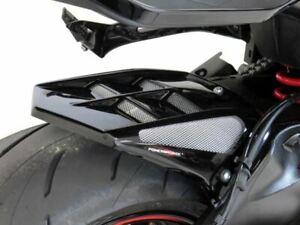 Suzuki Katana 19-2021 Gloss Black & Silver Mesh Rear Hugger by Powerbronze .