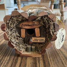 Wilcor Handcrafted Wood Design Love Shack Mini Bird House Welcome Love Birds Nwt