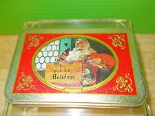 2 COCA COLA (sealed) PLAYING CARDS IN A TIN WITH PICTURES OF SANTA