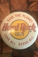 Vintage 90s Hard Rock Cafe Save the Planet Love All Serve All Pin Jacket Button