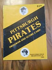 Old Vintage 1983 Pittsburgh Pirates Program Scorecard Boston Red Sox Autographs