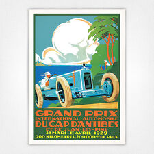 Vintage voiture automobile poster-A4-antibes grand prix 1929