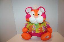 (D) Vintage Fisher Price Puffalump Tiger Pink Orange Wild Thing  Hawaiian Shirt