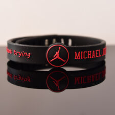 Chicago Bulls Basketball Wristband MICHAEL JORDAN Bracelet Adjustable strap Ring