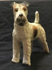 """Vintage Airedale Terrier dog figurine japan 7"""" tall"""