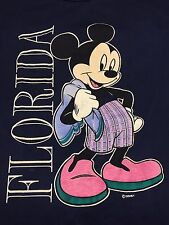 Vintage Mickey Mouse Walt Disney Florida T Shirt Cartoon World Land Beach Pool