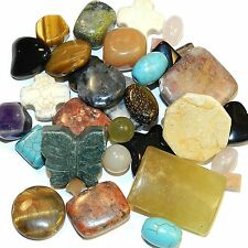 NG2843 Assorted Stone Mixed Color, Size (4-26mm) & Shape Gemstone Beads 2oz