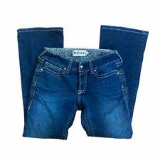 Ariat Real Denim Women's Jeans Medium Wash Straight Thick Stitch Size 28S
