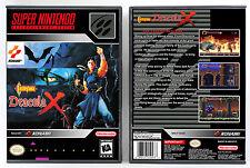 Castlevania: Dracula X - Super Nintendo SNES Custom Case *NO GAME*