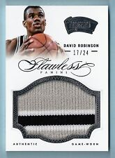 DAVID ROBINSON 2012/13 PANINI FLAWLESS 3 COLOR PATCH /24 SPURS
