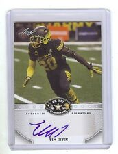 TIM IRVIN 2015 Texas Longhorns Football - U.S. Army - Certified AUTOGRAPH