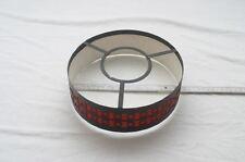 kleiner 60er 70er Jahre Lampenschirm  Metallgestell schwarz rot
