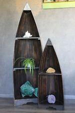 Exotisches Set Bootsregal Regal Boot Holz dunkelbraun 145cm und 95cm