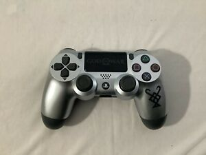 Sony Dualshock 4 PS4 God Of War Silver Controller USED *Tested*