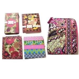 Lot of Vera Bradley Ipad Mini Quilted Tablet Case Sticky Notes, Stationary Etc