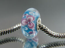 SINGLE SILVER CORE MURANO GLASS BEAD FOR EUROPEAN STYLE CHARM BRACELETS #MSB 520