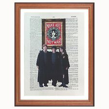 Harry Potter Vs Obey -  dictionary page art print collect - Shepard Fairey