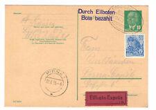 DDR Ganzsache P53 Eilbote Bahnpost Leipzig-Riesa-Dresden Zug 0479 1955 MiFr !