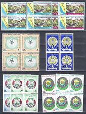 SAUDI ARABIA 1970's COLLECTION OF 100 IN BLOCKS OF 4 IN 10 COMPLETE SETS ALL NH