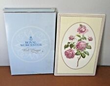 Royal WorcesterTHE WORCESTER  COLLECTION WALL PLAQUE CABBAGE PROVINCE ROSE