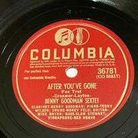Benny Goodman Sextet / Trio Columbia 78 rpm - After You've Gone / Body and Soul