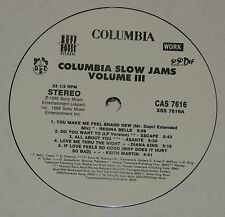 VARIOUS COLUMBIA SLOW JAMS VOLUME III Lp RECORD PROMO MARIAH CAREY V 3 XSCAPE +