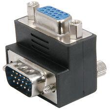 Adaptador VGA/SVGA en ángulo recto - 90 Grados Adaptador de conector macho a hembra
