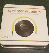 New, Chromecast Audio Media Streamer - Black