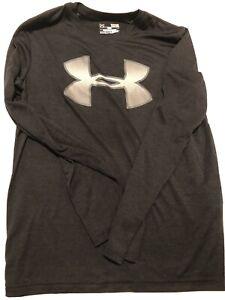 Under Armour Boys Long Sleeve Shirt, size Youth Large, Black