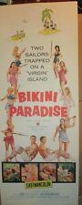 Bikini Paradise ORIGINAL vintage movie Poster 1967  14 x 36  Pinup sexy graphics