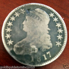 1817 Circulated Capped Bust Silver Half Dollar Nice Old Coin Very Fast Shipping