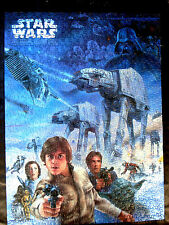 """'95 STAR WARS """"THE EMPIRE STRIKES BACK"""" 550 PIECE JIGSAW PUZZLE/18""""x24"""" MOUNTED"""