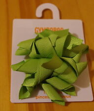 Gymboree girls green jumbo curly hair clips 2-pack BNWT