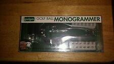Vintage Golfball Monogrammer Personalize Label Kit Golf Ball Star Case NEW