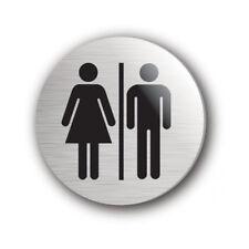 Self Adhesive Door Sign Ladies/Gents 75mm Diameter / Ladies & Gents Toilets Sign