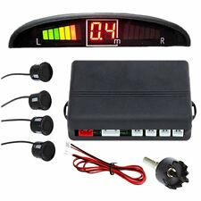 Zone Tech Black Parking 4 Radar Backup Reverse Sensors Led System Display Alarm