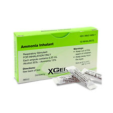 X-Gen Ammonia Inhalant 0.33mL/ampule x 10 ct used for arousing consciousness.