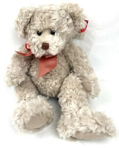 """Russ Berrie Toys From The Past """"Alanna"""" Teddy Bear 13"""" Fluffy Plush Toy With Tag"""