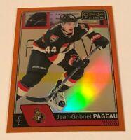 Jean Gabriel Pageau /25 Platinum Rainbow Orange Insert Parallel Hockey Card 116
