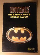 Vintage Batman Sticker Book Merlin Stickers Batman Movie Collectors Album RARE